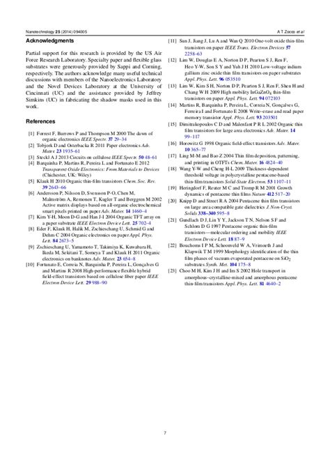research papers on nanotechnology nanotechnology paper research
