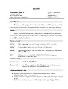 Objectives For Marketing Resume Sales Marketing Objective Resume Human Resources Objective