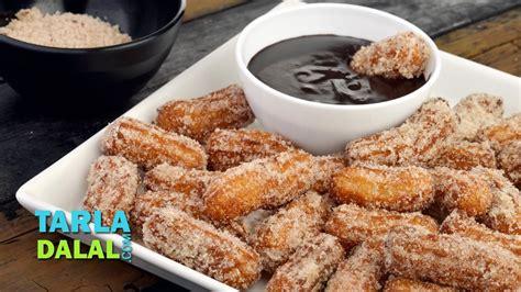 churros how to make famous mexican sweet easy breakfast recipe by tarla dalal youtube