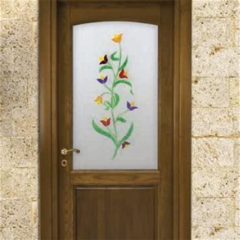 porte decorate per interni porta per interni in legno noce decorato ligurgo infissi