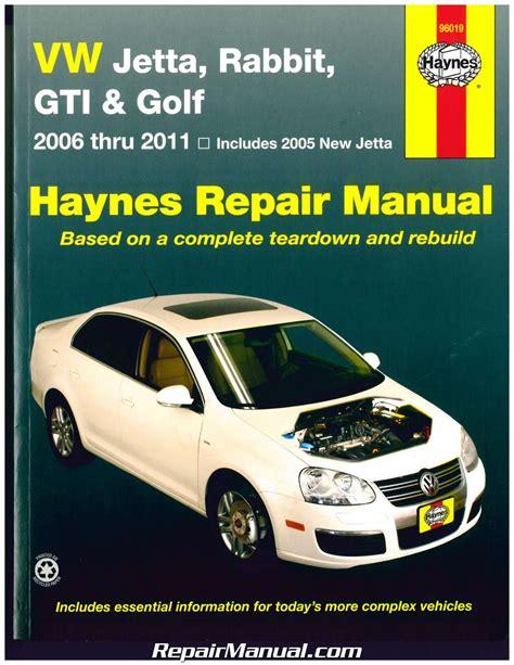 haynes vw golf gti jetta rabbit 2006 2011 auto repair manual