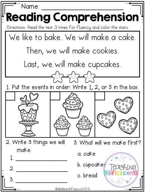 Kindergarten Activities Reading | free sequencing reading comprehension for beginning