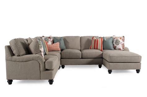 Transitional Sectional Sofa Transitional Sectional In Milk Chocolate Mathis Brothers