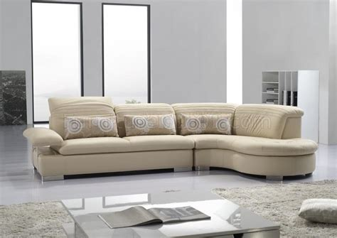 modern tan leather sofa tan full leather modern sectional sofa w adjustable headrests