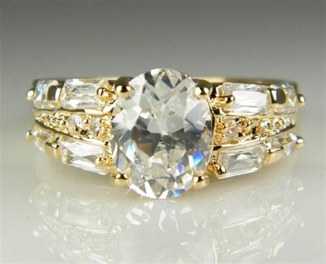 get cheap white sapphire engagement rings
