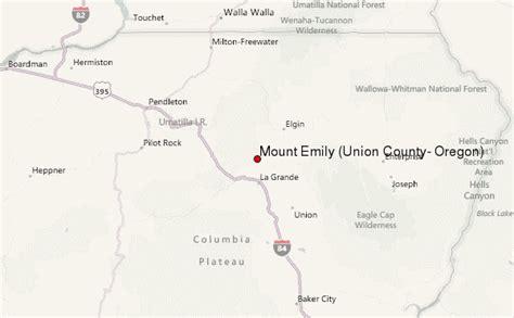 map of union oregon mount emily union county oregon mountain information