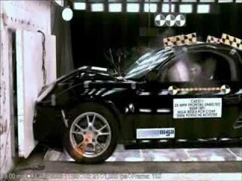 Porsche 911 Crash Test by Porsche Boxster Crash Test Youtube