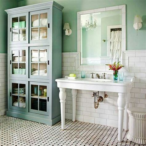 vintage bathroom storage ideas quot new country quot bathroom decorating the budget decorator