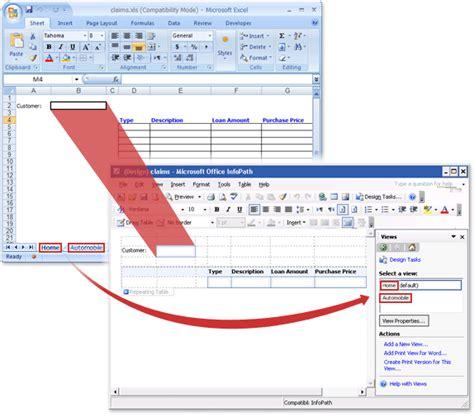 Ammorization Table Convert An Excel Workbook To An Infopath Form Template