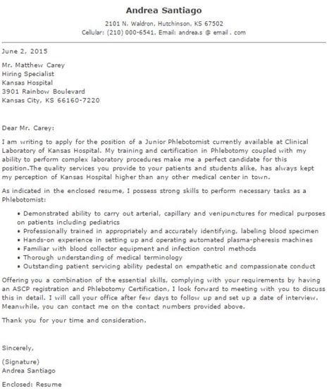 cover letter for phlebotomy phlebotomy cover letter cover letter for property manager
