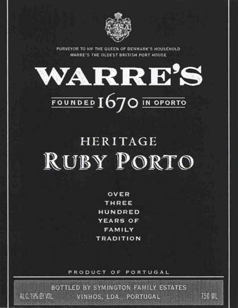 Ruby Pot 750 warre s heritage ruby port haskell s