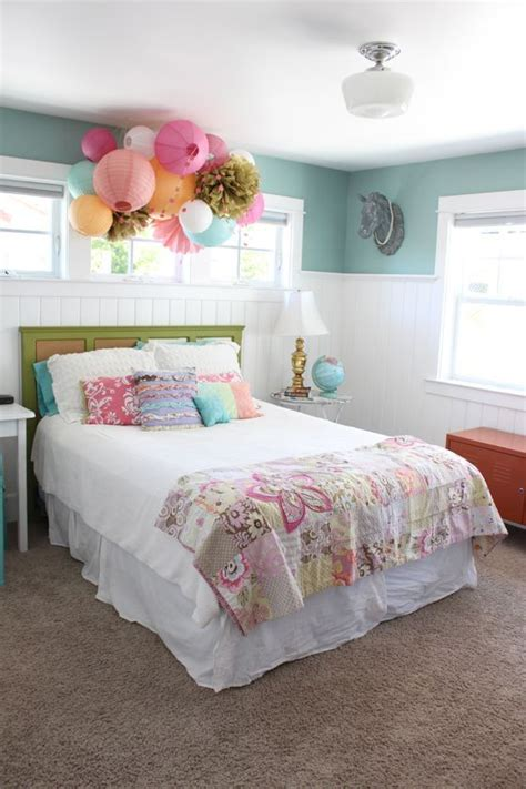 paper lantern bedroom ideas redecorating a room for a growing girl by shopping the