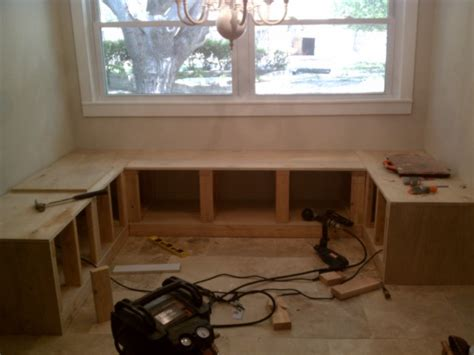 how to build a bench seat in kitchen build it bench seating for the kitchen nook the nook