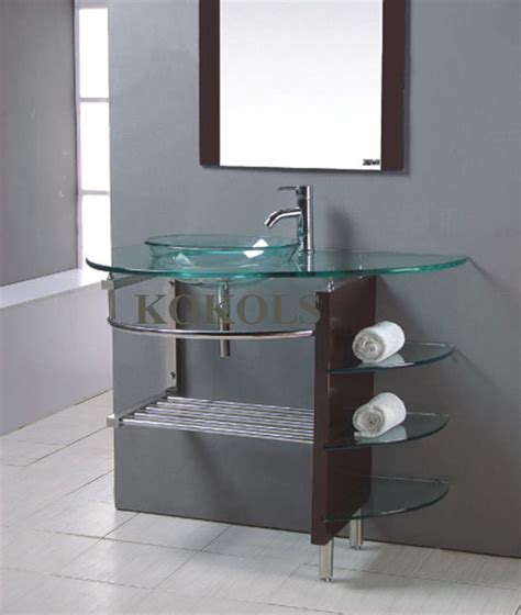 bathroom cabinets for bowl sinks modern bathroom glass bowl clear vessel sink wood vanity
