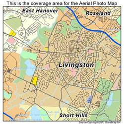 aerial photography map of livingston nj new jersey