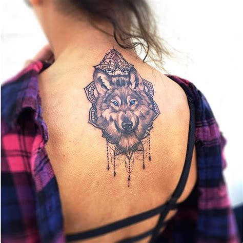 wolf tattoos for females 52 mandala wolf tattoos ideas