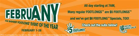 5 Dollar Subway Gift Card - 25 subway gift card giveaway februany specials only 5