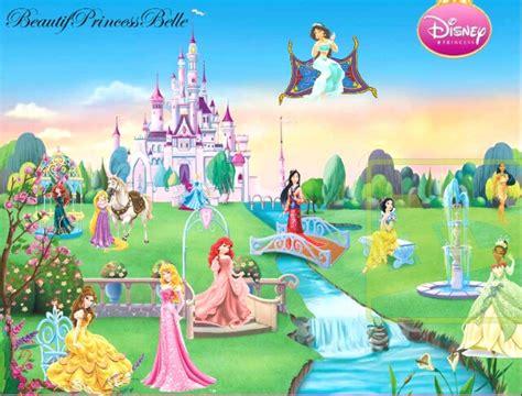 disney garden wallpaper the disney princesses in the castle garden by