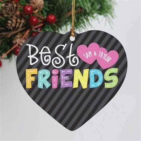 personalized friends christmas ornaments personalized ceramic best friends ornament best friends