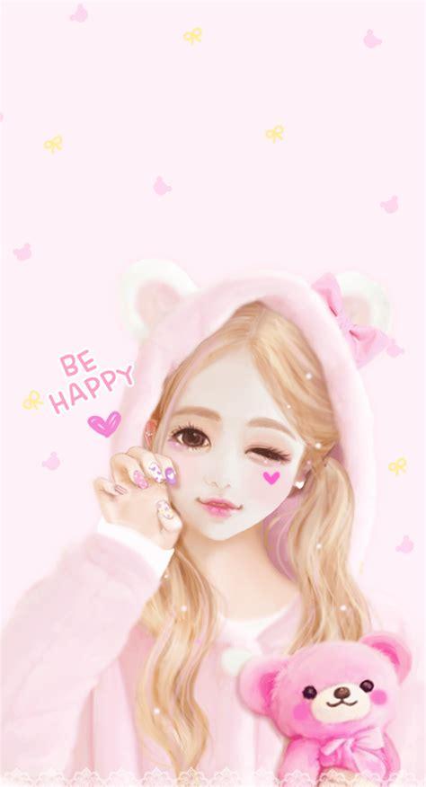 wallpaper korean pink enakei cute pinterest anime kawaii and wallpaper