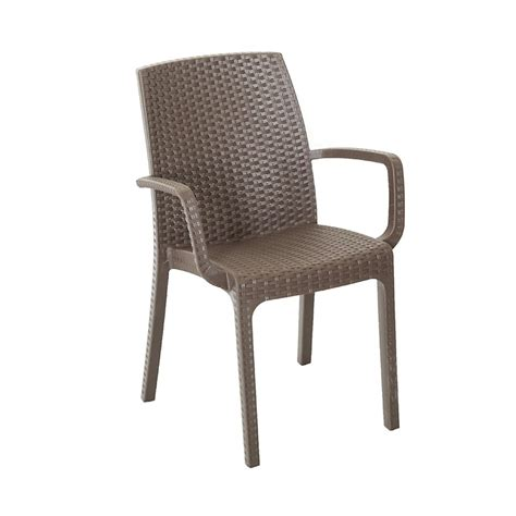 sedie impilabili prezzi sedia per esterni impilabili con braccioli marrone modello