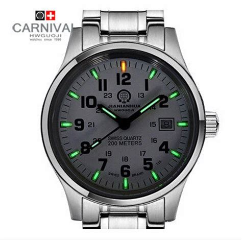 carnival quartz tritium t25 luminous waterproof