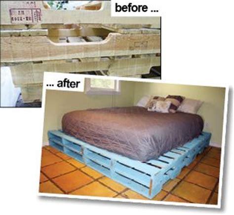 pallet bed frame instructions instructions to make a queen sized pallet bed frame bedroom pinterest diy