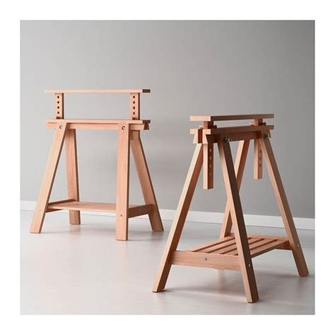 sawhorse legs for diy table finnvard trestle with shelf ikea solid wood is a durable material ikea 35 each for