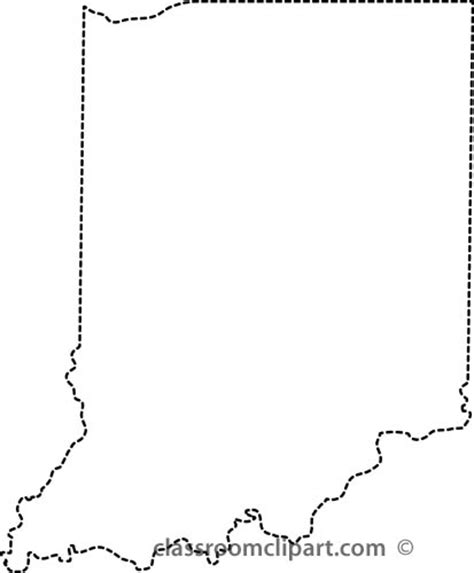 Indiana State Outline Clipart by Image Gallery Indiana Outline
