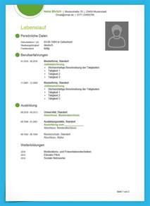 Kostenlose Lebenslauf Muster Und Vorlagen Zum Download
