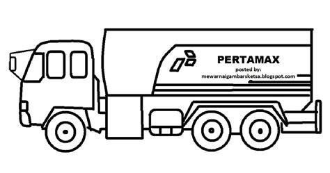 mewarnai gambar mewarnai gambar mobil truk 2
