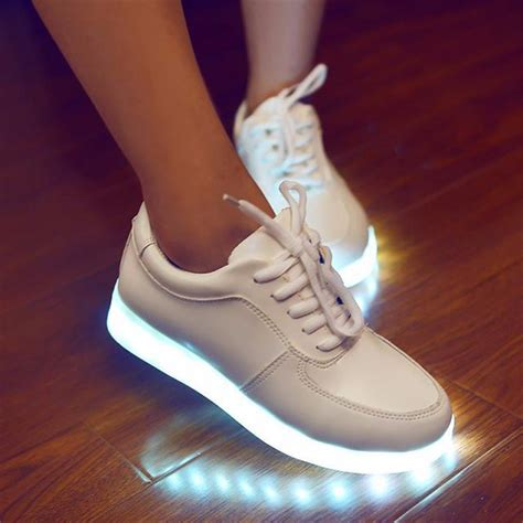 glowing shoes 2015 colorful glowing sneakers with lights up led