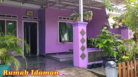 rumah subsidi warna ungu idaman banget youtube