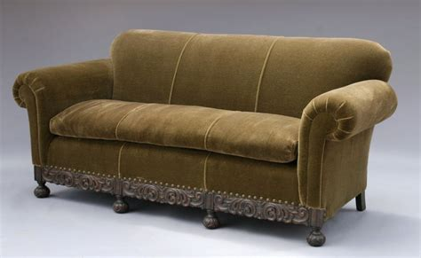 1920s sofa styles 1920 s mohair sofa w carved base at 1stdibs