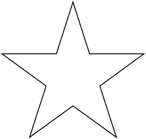 star templates printable clipart best