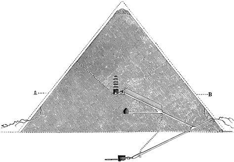 cross section of a pyramid great pyramid of giza cross section clipart etc