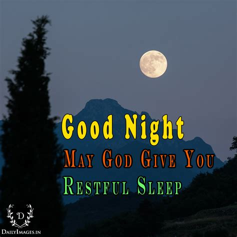 good night  god give  restful sleep daily images