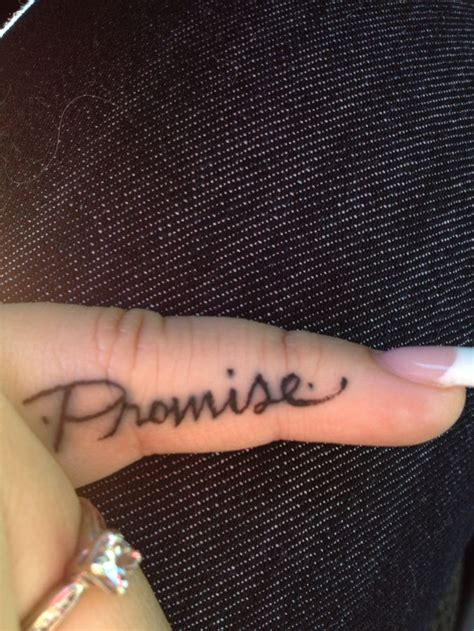 promise tattoo on pinky promise tattoos
