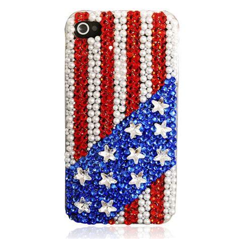 Handmade Iphone 4 Cases - handmade and stripes rhinestone iphone 4 4s