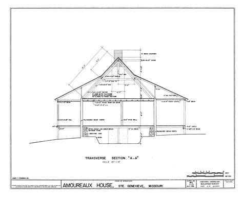 section drawing of a house file drawing of a transverse section of the amoureaux