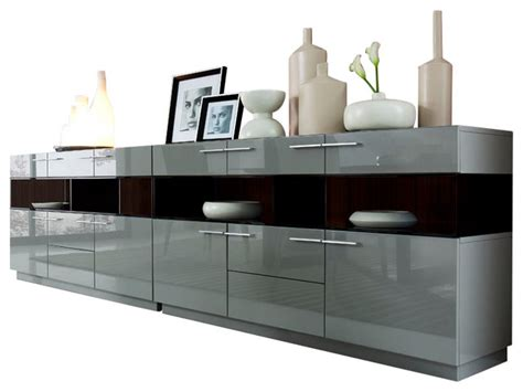 sideboard buffet modern daytona modern grey gloss buffet modern buffets and sideboards by la furniture store