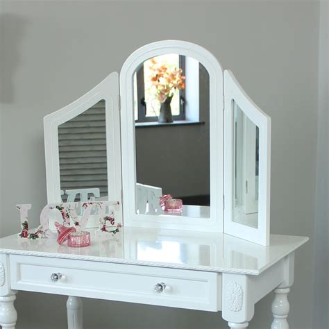 white bedroom dressing table white wooden dressing table mirror shabby french chic