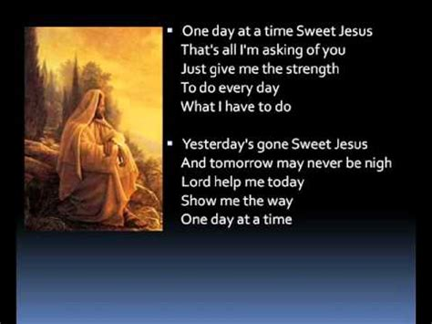 testo one day one day at a time lyrics
