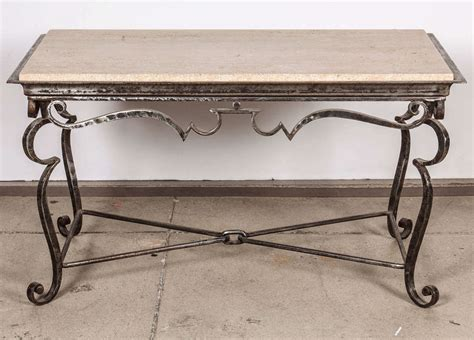 Marble Top Coffee Table For Sale Iron Coffee Table With Travertine Marble Top For Sale At 1stdibs