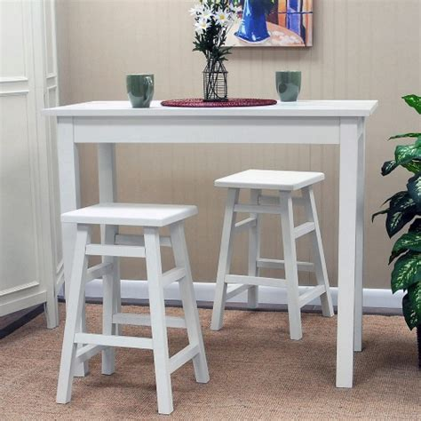 White Pub Table With Stools carolina tavern 3 white pub table set with tavern