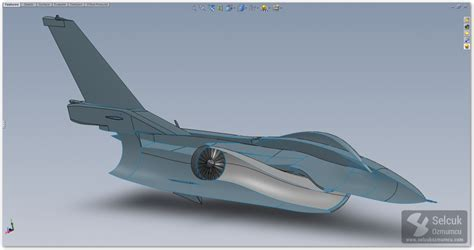 solidworks tutorial aircraft f 16 fighting falcon modeling process in solidworks
