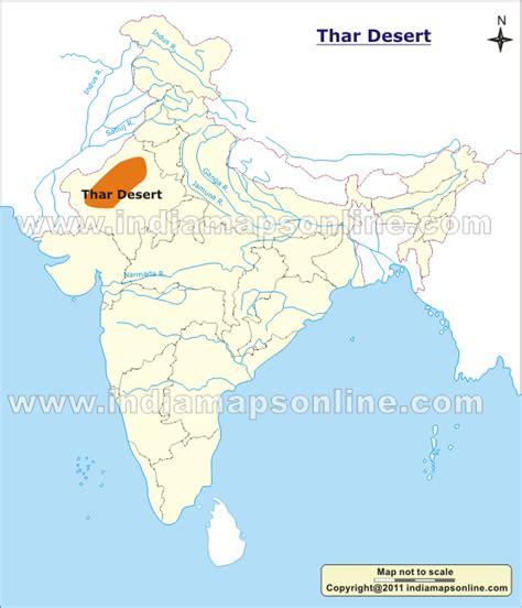 thar desert location image gallery thar map