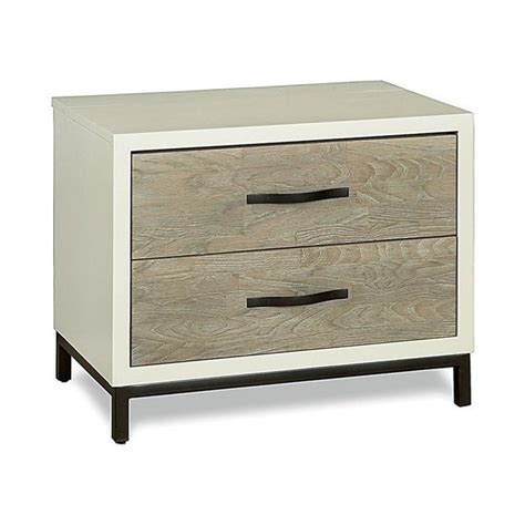 Patio Door Shades Universal Furniture The Spencer Bedroom Nightstand In Gray