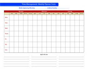 template for time management schedule best photos of weekly time management template time