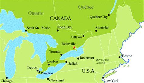 us map toronto canada belleville plan